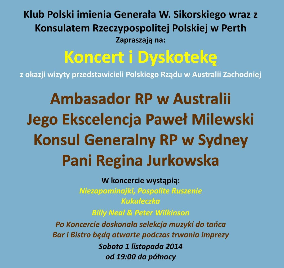 Ambassador, Award Ceremony and Concert 1/11/2014
