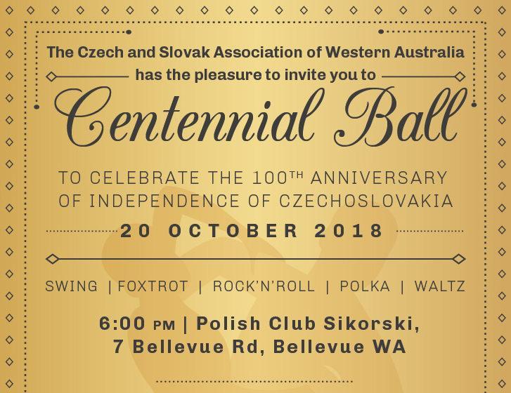 Centennial Ball – 100 Anniversary of Czechoslovakia